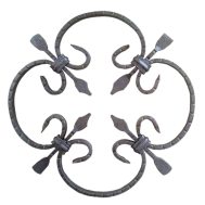 13.007 Decorative Wrought Iron Rosettes For Gate Fence and Staircase