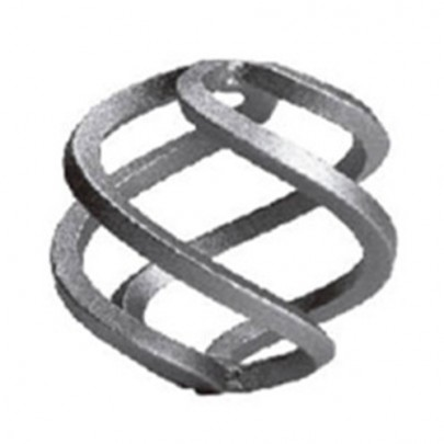 12.011 Wrought Iron Four Wires Twist Basket