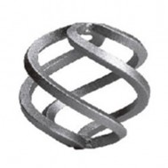 12.011.02 Wrought Iron Four Wires Twist Basket