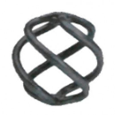 12.011.03 Wrought Iron Four Wires Twist Basket