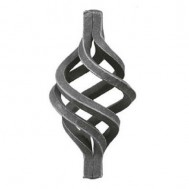 12.082 Wrought Iron Four Wires Twist Basket