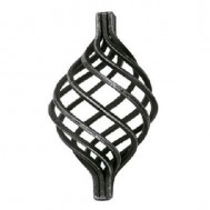 12.114 Wrought Iron Eight Wires Twist Basket