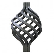 12.116 Wrought Iron Eight Wires Twist Basket