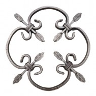 13.000.02 Decorative Wrought Iron Rosettes For Gate Fence and Staircase