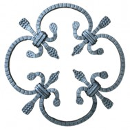 13.003.02 Decorative Wrought Iron Rosettes For Gate Fence and Staircase