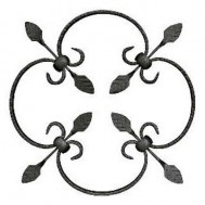 13.005 Decorative Wrought Iron Rosettes For Gate Fence and Staircase