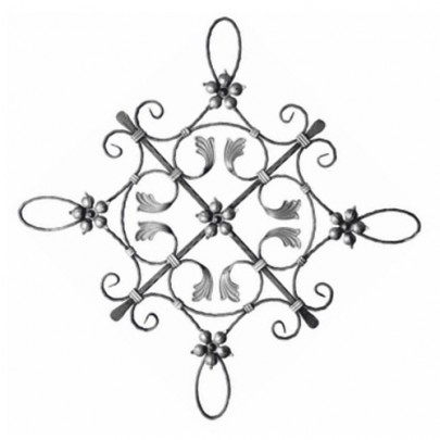 13.010 Decorative Wrought Iron Rosettes For Gate Fence and Staircase
