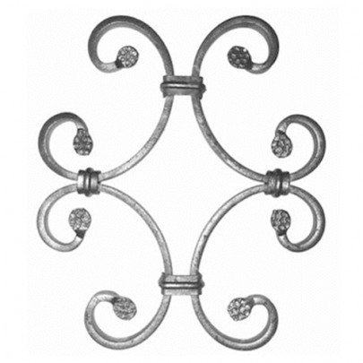 13.014.01 Decorative Wrought Iron Rosettes For Gate Fence and Staircase