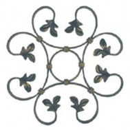 13.014.02 Decorative Wrought Iron Rosettes For Gate Fence and Staircase