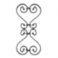 13.015.01 Decorative Wrought Iron Rosettes For Gate Fence and Staircase