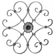 13.016 Decorative Wrought Iron Rosettes For Gate Fence and Staircase