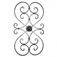 13.017.01 Decorative Wrought Iron Rosettes For Gate Fence and Staircase