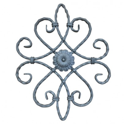 13.018.01 Decorative Wrought Iron Rosettes For Gate Fence and Staircase