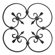 13.020 Ornamental Wrought Iron Panels For Gate Fence and Staircase