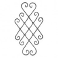 13.022.01 Ornamental Wrought Iron Panels For Gate Fence and Staircase