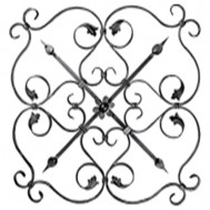13.028.02 Ornamental Wrought Iron Panels For Gate Fence and Staircase