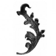 52.005 Decorative Garden Fence Cast Steel Flowers And Leaves