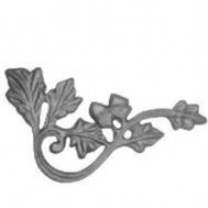 52.404 Decorative Garden Fence Cast Steel Flowers And Leaves