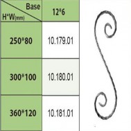 10.179.01-10.181.01 Wrought Iron House Gate Designs Steel Scroll