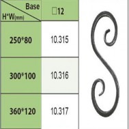 10.315-10.317 Wrought Iron House Gate Designs Steel Scroll