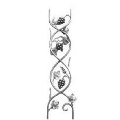 13.203 Main Gate Design Wrought Iron Rosettes Panels For Garden