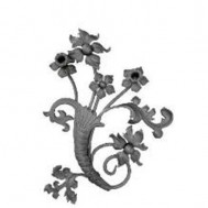 13.237 Main Gate Design Wrought Iron Rosettes Panels For Garden