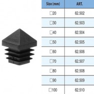 62.502-62.510 HIGH QUALITY HOLLOW BALL WITH SQUARE BASE CAPS