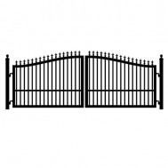 Hot-Dip Galvanized 1800mm*2400mm Black Assembling Steel Fence